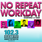 102.3 Clear FM, No-Repeat Workday, banner