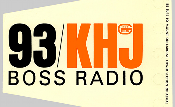 93 KHJ, Boss Radio, car radio antenna flag