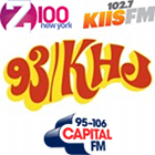 93 KHJ, Boss Radio, Z100, 102.7 KIIS FM, Capital FM, radio logos