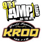 97.1 AMP RADIO logo, 106.7 KROQ logo