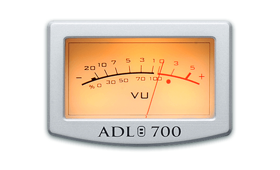 VU meter, dB scale, ADL 700