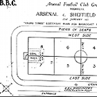 www.radioiloveit.com | BBC Radio sports reporters used this football field square map during live soccer game broadcasts