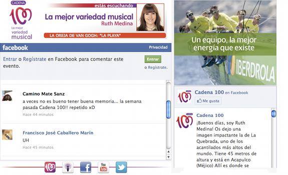 Cadena 100, Facebook