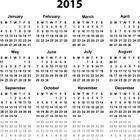 calendar, 2015