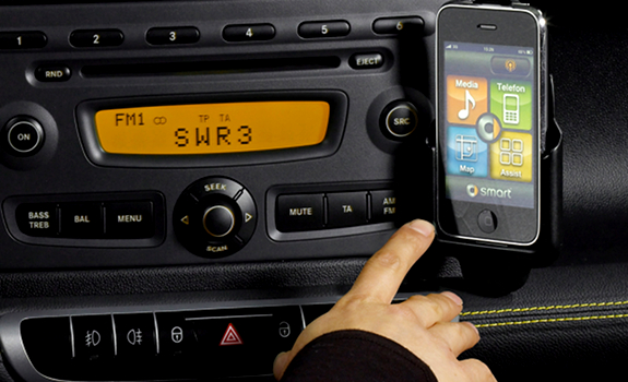 car radio, FM station, SWR 3 RDS, iPhone app