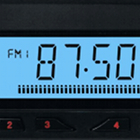 car radio, tuner display, FM frequency, 87.5 MHz, preset buttons