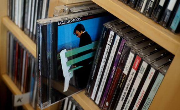 CD collection, Compact Discs, Boz Scaggs, Silk Degrees, album cover