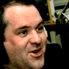 www.radioiloveit.com | Chris Moyles in the radio studio during his morning show on BBC Radio 1 in the UK