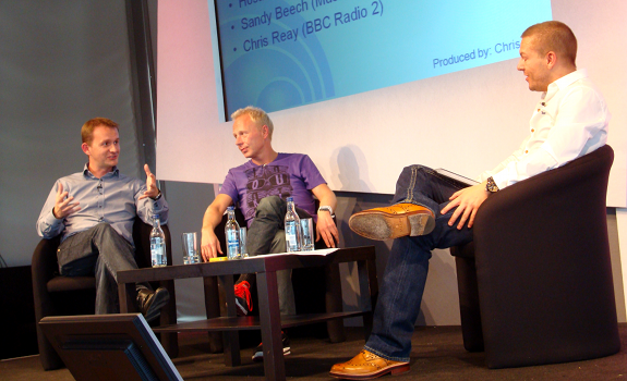 www.radioiloveit.com | Chris Reay (BBC Radio 2), Sandy Beech (Music 4) and Simon Hirst (Capital FM Yorkshire) talk about radio jingles and imaging at the Radio Festival 2011 in Manchester (photo: Thomas Giger)