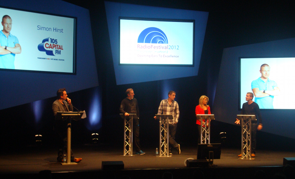 Christian O'Connell, George Bowie, Graham Liver, Leanne Campbell, Simon Hirst, Radio Festival 2012