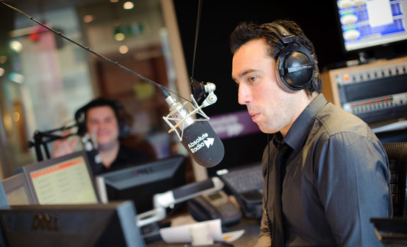 Christian O'Connell, Richie Firth, Absolute Radio, radio studio