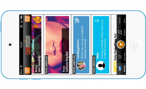Commotion, iPhone app, radio app