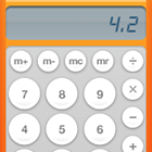 computer calculator, number 4.2, display, buttons