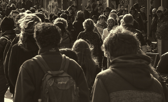 people, walking, city, street, audience, reach