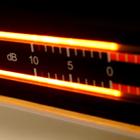 digital VU meter, audio level scale, Decibel, dB, 0 dB limit, +1 dB overshoot