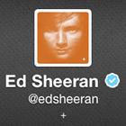 Ed Sheeran, Twitter account