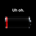 iPhone battery, empty battery