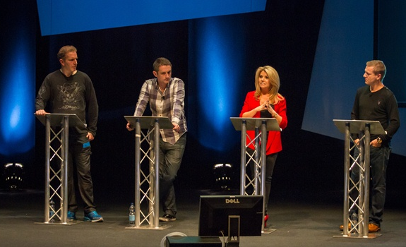 George Bowie, Graham Liver, Leanne Campbell, Simon Hirst, Radio Festival 2012
