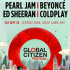 The Global Goals, Global Citizen Festival flyer