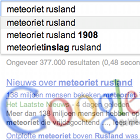 Google.be search, Google Belgium search, news meteor Russia 2013