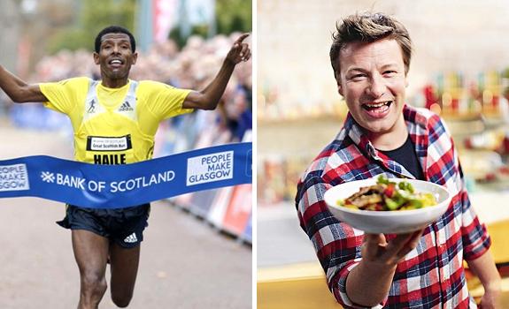 Haile Gebrselassie, Jamie Oliver
