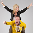 www.radioiloveit.com | Hans Blomberg and his sidekick Susanne Bersin of the bigFM morning show 'Susanka und der Morgenhans' have characters that complement each other