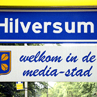 Hilversum media city welcome sign, Hilversum 'Welkom in de mediastad'
