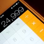 iPhone calculator, almost 25 percent, exactly 24.999 percent