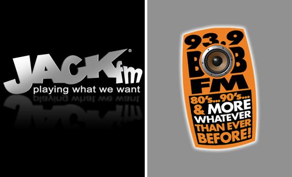 JACK fm logo, 93.9 Bob FM logo