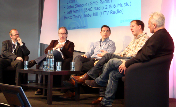 www.radioiloveit.com | Jeff Smith, John Simons, George Ergatoudis, David Courtier-Dutton and Terry Underhill talk about music research and music scheduling at the Radio Festival 2011 in Manchester (photo: Thomas Giger)