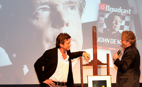 www.radioiloveit.com | John de Mol of Talpa Media has won the Dutch Broadcaster of the Year 2011 award for his acquisition of SBS Netherlands together with Sanoma Media, as well as his internationally successful television talent show format The Voice (photo: Broadcast Magazine / Maud Berger)