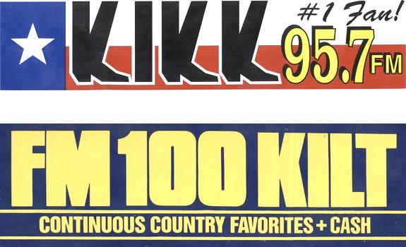 KILT and KIKK had already strong positions when KKBQ became Houston's third Country station (images: KILT, KIKK)