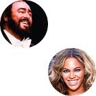 Luciano Pavarotti, Beyoncé Knowles