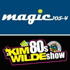 Magic 105.4 logo, The Kim Wilde 80s Show logo