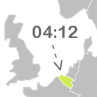 Belgium highlighted on the map of Europe, 4 hours and 12 minutes