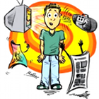 mass media cartoon, mass media consumer, mass media, radio, TV, television, newspaper, magazine