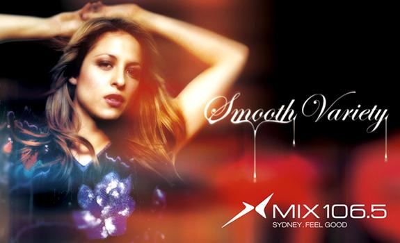 Mix 106.5 Sydney, Smooth Variety, Feel Good, radio billboard, music claim, brand positioning