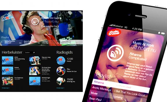 MNM, Radio+, visual radio player, Studio Brussel, iPhone app