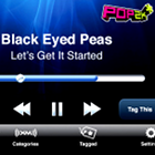 Black Eyed Peas, Let's Get It Started, radio stream, radio app, mobile phone, cell phone