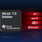 WiLink 7.0 Solution, radio chip for mobile phones, quad chip for mobile phones, FM, GPS, WiFi, Bluetooth, Texas Instruments
