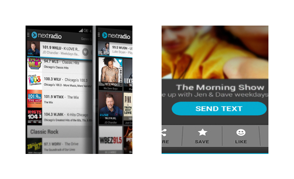 mobile phone radio app, cell phone radio app, smartphone radio app, NextRadio