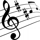 music key, music notes, logo melody