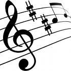 music key, music notes, logo melody