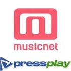 MusicNet logo, Pressplay logo