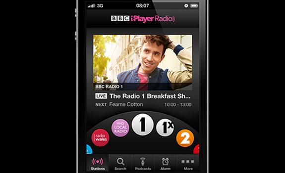 Nick Grimshaw, BBC Radio 1, BBC iPlayer Radio app for iOS