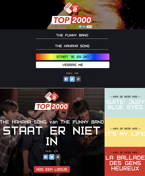 NPO, NPO Radio 2, Top 2000, The Hahaha Song, The Funny Band