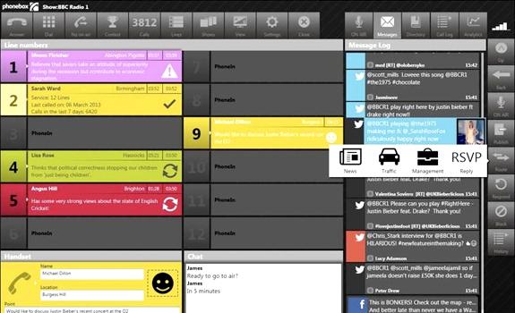 PhoneBOX v4, Broadcast Bionics, phone call queue, social media feed