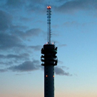 radio broadcast tower, FM broadcast transmitter, FM frequency antenna