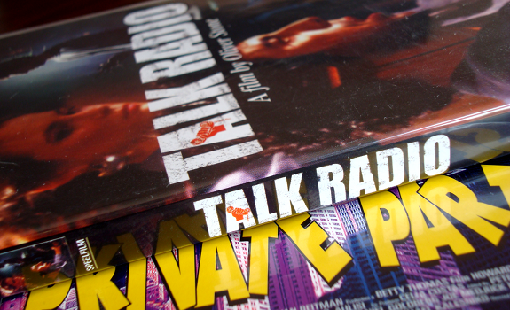 Talk Radio movie, Private Parts movie, Howard Stern movie, DVD covers