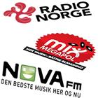 Radio Norge logo, Mix Megapol logo, NOVA fm logo